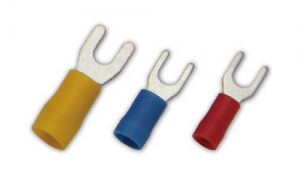 PVC Insulated Fork Terminals(Double Crimp)